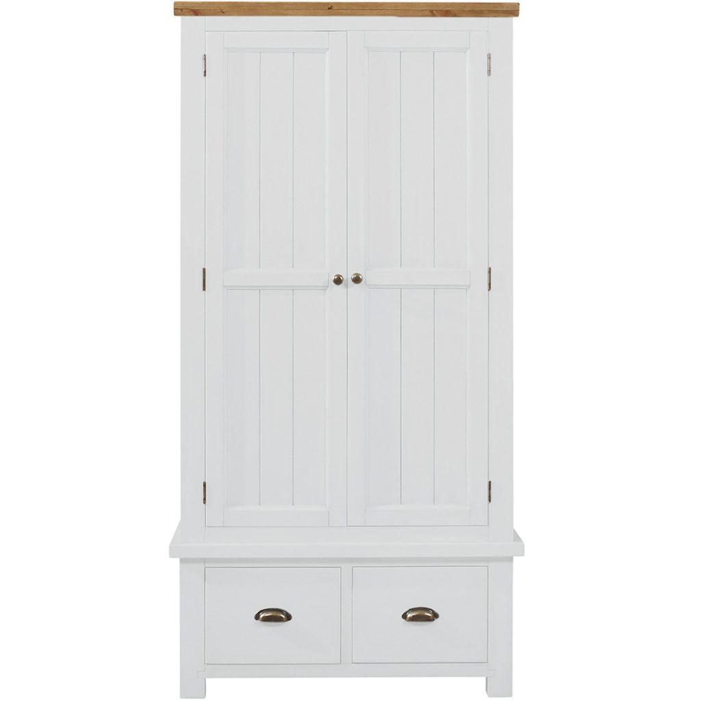 Gresford White 2 Door 2 Drawer Wardrobe