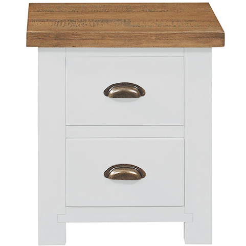 Gresford White 2 Drawer Bedside Table