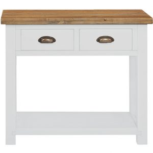 Gresford White 2 Drawer Console Table