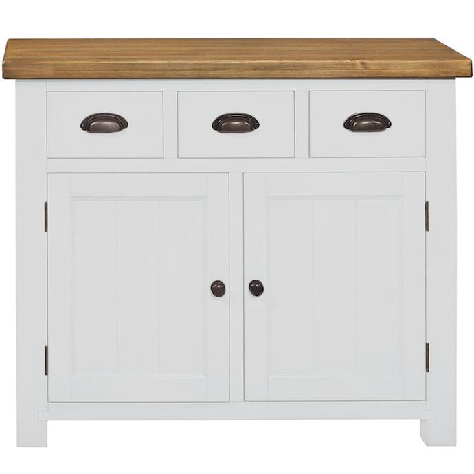 Gresford White 3 Drawer 2 Door Sideboard