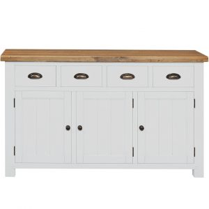 Gresford White 4 Drawer 3 Door Sideboard