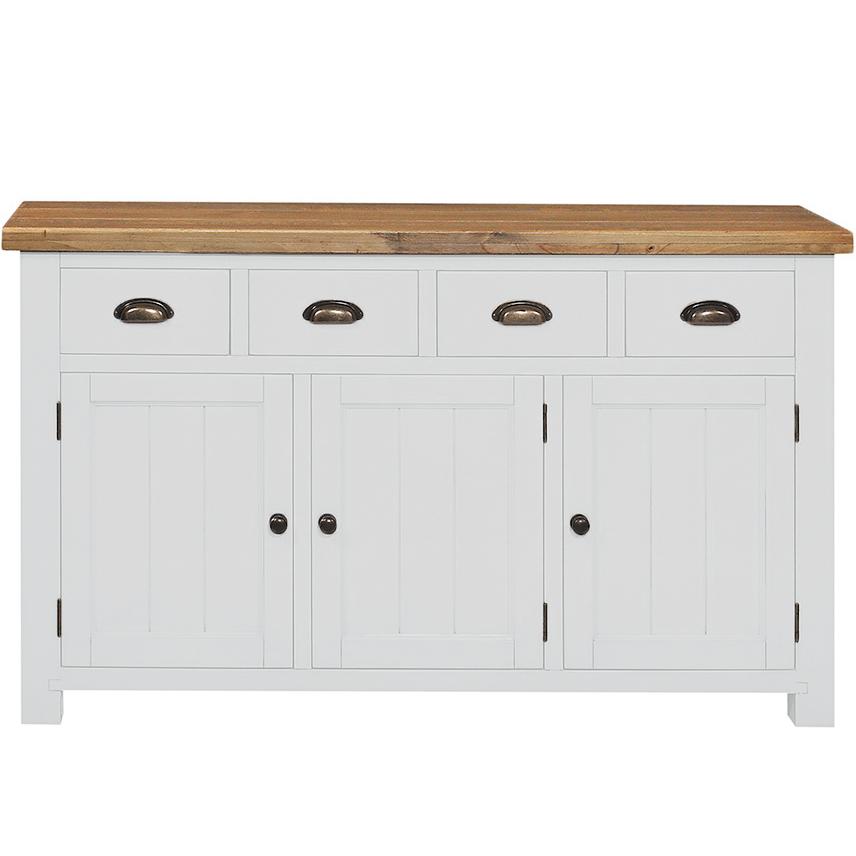Gresford White 4 Drawer 3 Door Sideboard