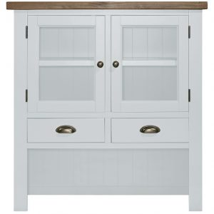 Gresford White Hutch 2 Door 3 Drawer Sideboard