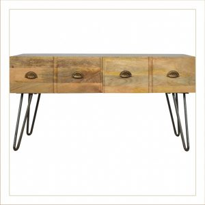Mango Hill 4 Drawer Coffee Table with Iron Base