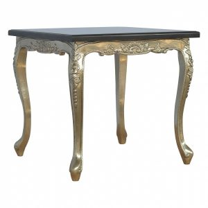 Mango Hill Electro-plated Dining Table with a Black Marble Top