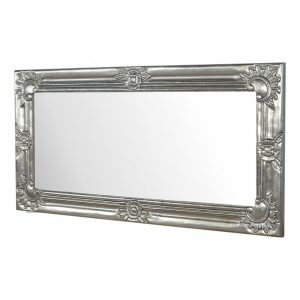 Mango Hill Electro-plated Nickel Silver Hand Carved Mirror