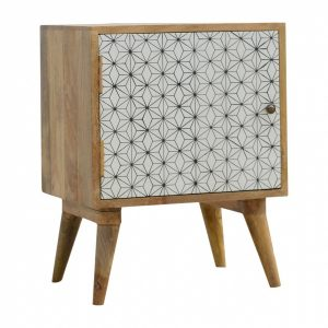 Mango Hill Geometric Screen-Printed Door Bedside