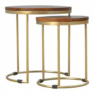 Mango Hill Golden Nesting Stool of 2