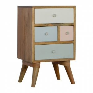 Mango Hill Hand Painted Multi Drawer Bedside Table