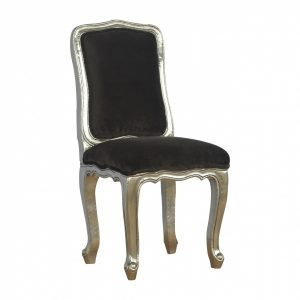 Mango Hill Sleek Brown Dining Chair with Electro-plated Silver