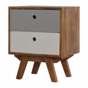 Mango Hill Two Tone Hand Painted Hole Cut-Out Bedside