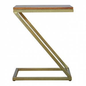 Mango Hill Z-shaped Golden Side Table