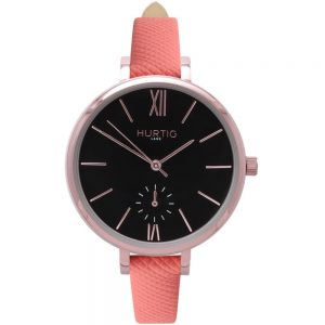 Woman's Amalfi Petite Collection // Rose Gold, Black & Coral