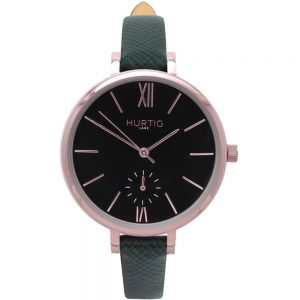 Woman's Amalfi Petite Collection // Rose Gold, Black & Green