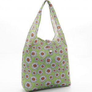 Green Gerbera Daisys Foldaway Shopper