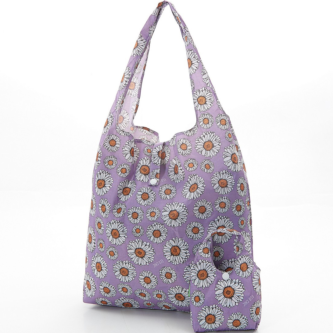 Lilac Gerbera Daisys Foldaway Shopper