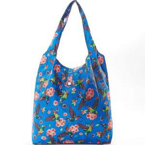 Blue Humming Bird Foldaway Shopper