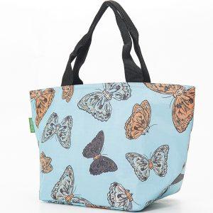 Blue Butterflies Print Lunch Bag