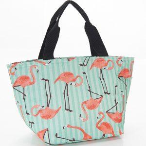 Blue Flamingos Lunch Bag