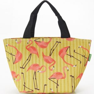 Lilac Flamingos Lunch Bag