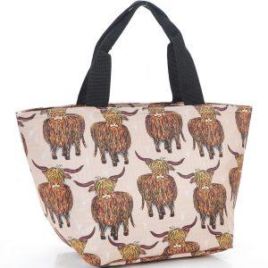 Beige Highland Cow Lunch Bag