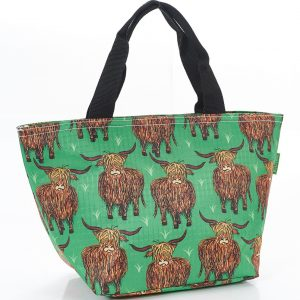 Green Highland Cow Lunch Bag
