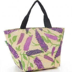 Beige Buddleia Flower Lunch Bag