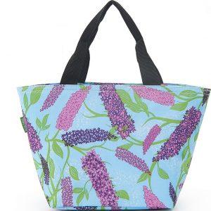 Blue Buddleia Flower Lunch Bag