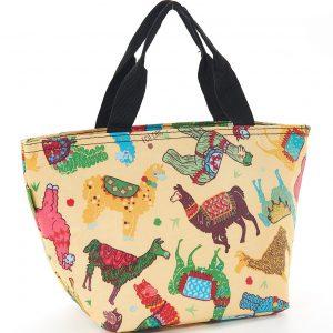 Beige Llama Lunch Bag