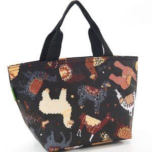 Black Llama Lunch Bag