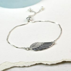 ANGEL WING BRACELET | WITH ENAMEL AND CRYSTALS