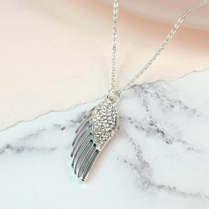 ANGEL WING NECKLACE | WITH ENAMEL AND CRYSTALS