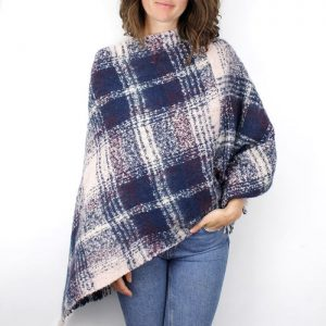 BLUE MULBERRY | PONCHO WITH TASSELS
