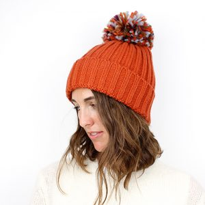 BURNT ORANGE | POM POM HAT