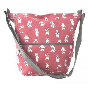 Pink Bears | Cross Body Slouch Bag