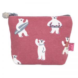 Pink Bears | Mini Zip Purse