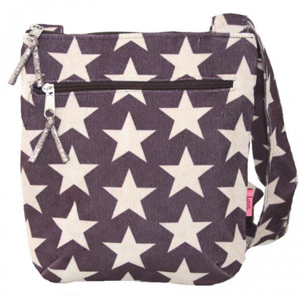 Plum Stars | Messenger Bag