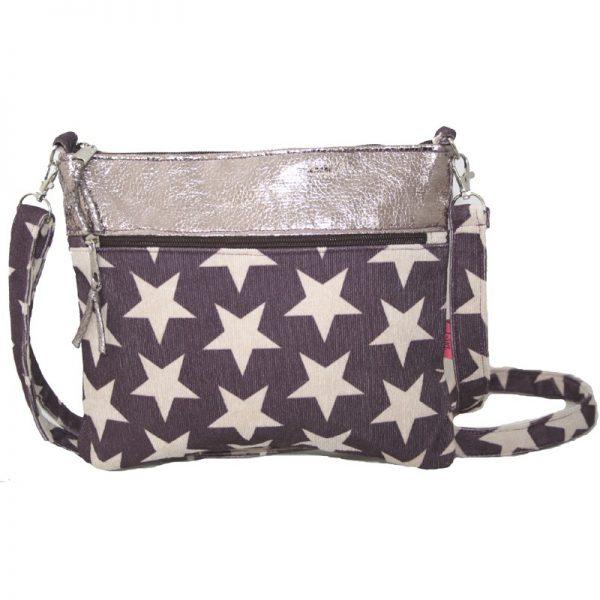 Plum Stars   Short Cross Body Bag
