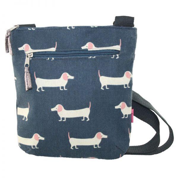 Slate Sausage Dog   Messenger Bag