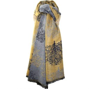 Terry Trees Mustard Scarf