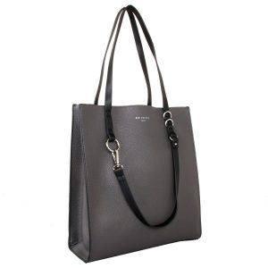 Grey Contrast   Handle Bag