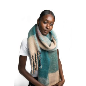 Multi Teal Scarf