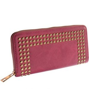 Oblong Gold Stud Berry Purse