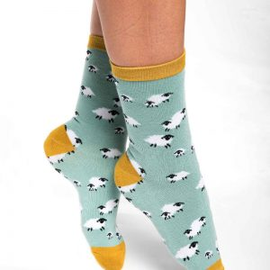 Green Sheep Socks