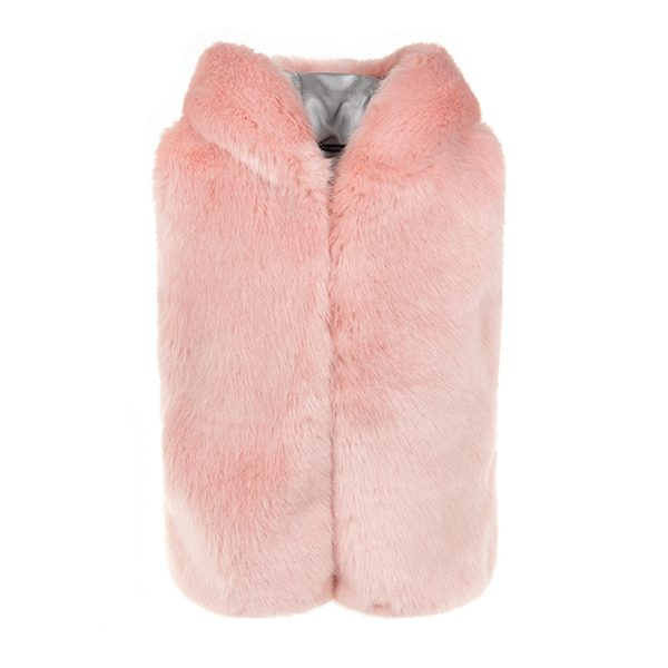 Dusky Hooded   Faux Fur Gilet