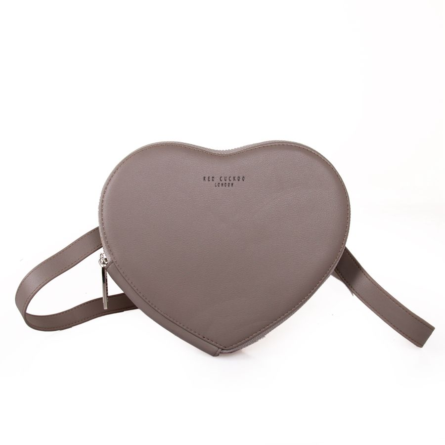 Grey | Heart Pouch