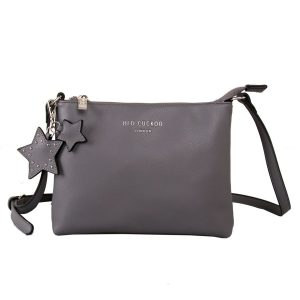 Grey Star Keychain | Cross Body Bag