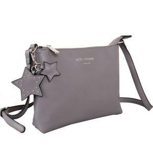 Grey Star Keychain | Cross Body Bag