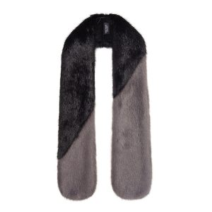 JET & STEEL | FAUX FUR | DIAGONAL SCARF