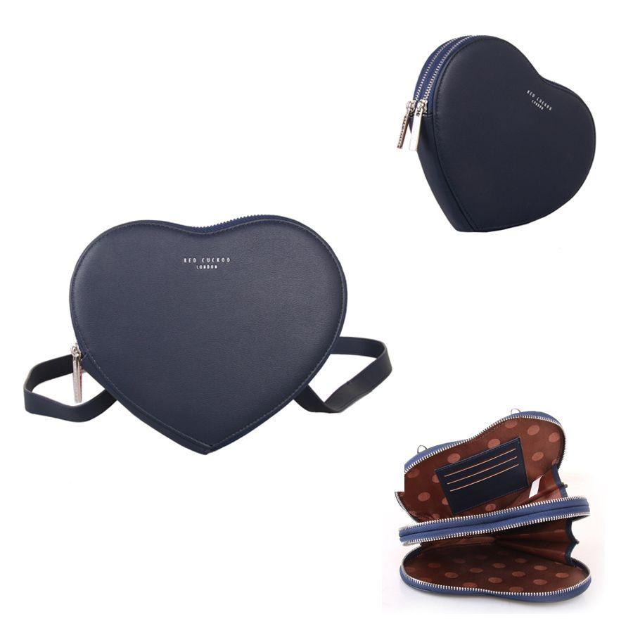 Navy | Heart Pouch